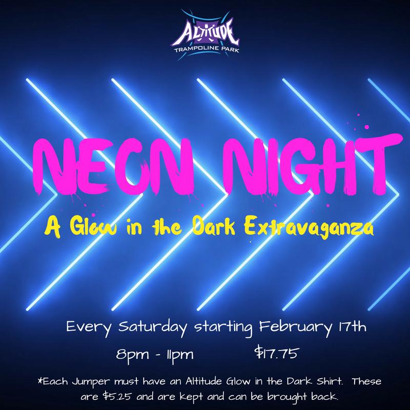 Neon Night Altitude Trampoline Park Bossier City